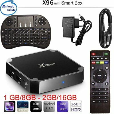 Smart TV BOX S905W X96 mini Android 7.1 ROM 1GB/8GB 2GB/16GB +Mini Tastiera Z1