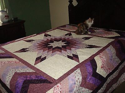 BRAIDED STAR QUILT TOP - Not Quilted, Machine Pieced, Made in the USA!