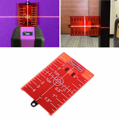 Magnetic Target Plate Red For Rotary Cross Line Laser Level Distance Measurer