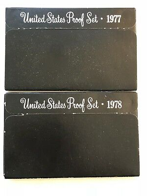 1977  1978  US Mint  Proof  Coin Sets