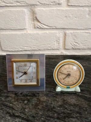Pair of French Vintage Art Deco Small Clocks.