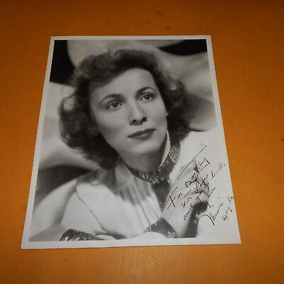 Mimi Doyle was an American actress Hand Signed 8 x 10 Vintage Photo