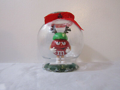 Mars M&M's Christmas Holidays Handmade Mr. Red with Antlers in Glass Jar