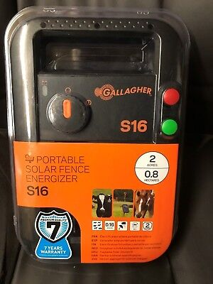 electric fence energizer gallagher S16 solar powered 1.5km new model