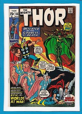 Mighty Thor #186_March 1971_Vf/nm_The Guardian_Hela_Bronze Age Marvel!