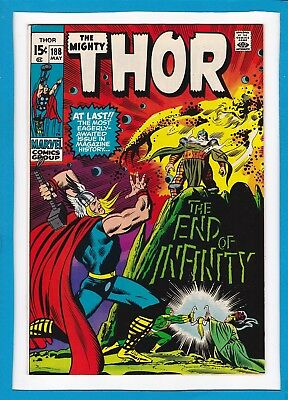 "Mighty Thor #188_May 1971_Very Good/fine_""the End Of Infinity""_Bronze Age!"