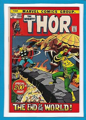 Mighty Thor #200_Jun 1972_Near Mint Minus_Special Anniversary Issue_Bronze Age!