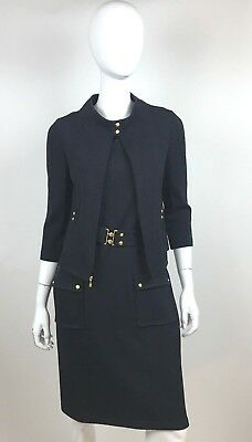 St. John Collection Black Knit Shift Dress & Jacket Size 4 - 2 Fabulous PIeces