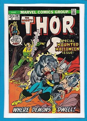 Mighty Thor #207_January 1973_Very Fine Minus_Special Haunted Halloween Issue!