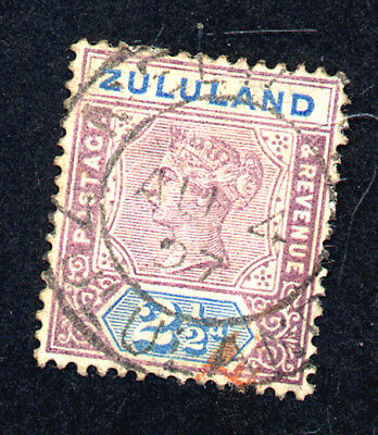 Zululand - An 1894 two and a half pence mauve and blue stamp
