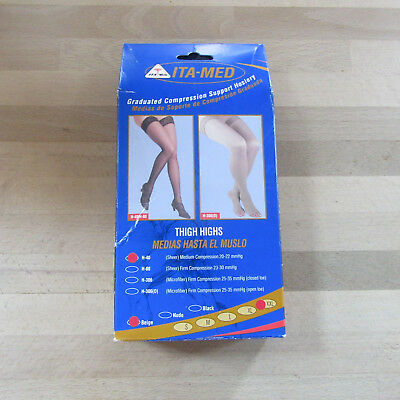 ITA-MED -  H-40 Beige -  XX-Large Sheer Thigh Highs Medium Compression Stockings