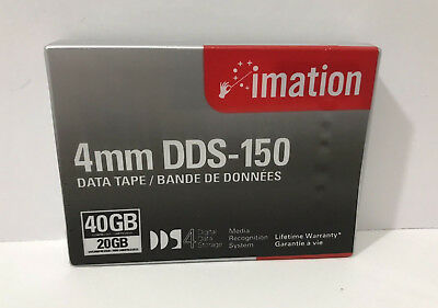 Imation 4MM DDS-150 Data Tape- Sealed- 40GB Compressed - 20GB Uncompressed