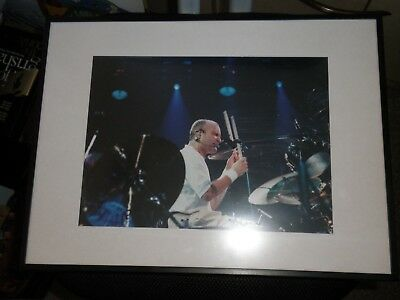 Phil Collins Mounted Photograph In Top Condition