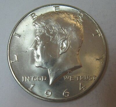 1964-D John F Kennedy Silver Half Dollar Choice BU Condition DUTCH