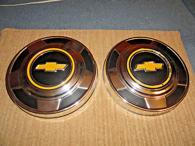 73-78 Chevy 1/2 Ton Pick Up Truck Nos Dog Dish Hubcaps Pr. 362011 Please Read