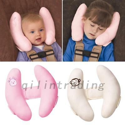 Baby Travel Car Seat Soft Pillow Stroller Cushion Head Neck Support  2 Colors