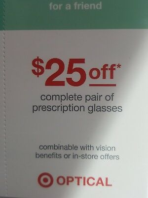 2 $25 Target Optical Gift Card's Total $50