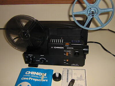 Chinon 3000Gl Cineprojector 8Mm Movie Projector With Accessories And Box