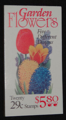 Scott # BK 208 ( 2764a ) Garden Flowers Booklet ( F. V )