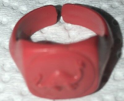 Sinclair Oil Tiny Plastic  Child's Salmon-colored Expansion Ring With Dinosaur