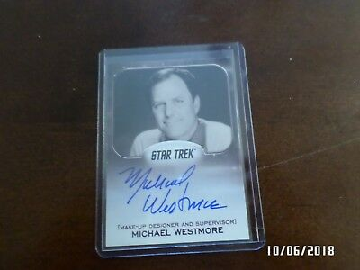 AUTHENTIC AUTOGRAPHED Insert Card MICHAEL WESTMORE Star Trek Make Up Designer