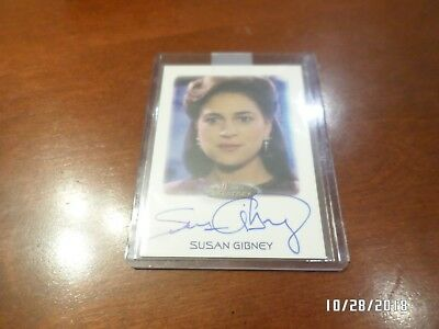 Autographed Signed Insert Card  SUSAN GIBNEY in STAR TREK