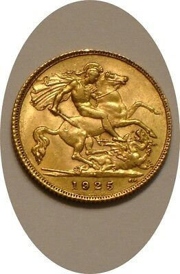 1925 GOLD Half Sovereign of South Africa full Mint LUSTER