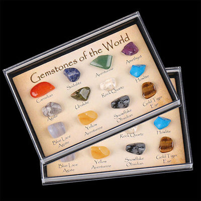 15pcs/Set Chakra Stones Natural Stone Reiki Healing Crystal Gemstones Collection