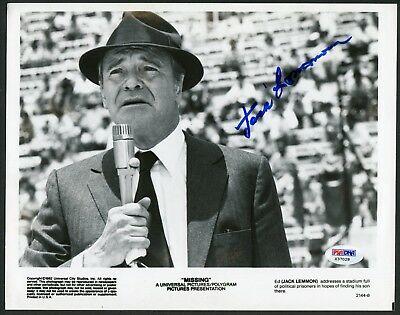 Jack Lemmon Signed 8X10 Photo Missing The Apartment Odd Couple Dad Psa/Dna