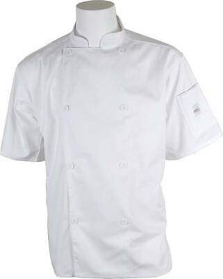 Mercer Genesis Cutlery Short-Sleeved Chef Jacket (White) | Medium