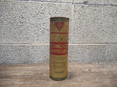 L2717- Rare Vintage Conoco Lubricants Sujind Grease Can for Grease Gun FULL