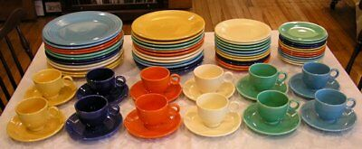 (72) Pc. Vintage Homer Laughlin Fiestaware Primary Colors Dinner Service for 12