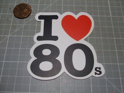 MATTE I LOVE 80'S Sticker/ Decal Bumper Stickers Actual Pattern NEW