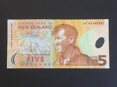 1999 New Zealand five dollar bank note