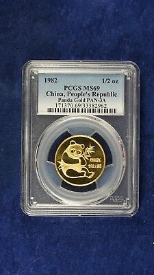 1982 1/2 oz Gold Panda Coin MS69