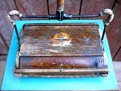 Antique Ewbank Success English Oak Victorian Carpet Sweeper Primitive Maid