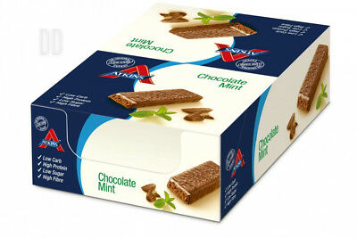 Atkins Chocolate Mint, Low Carb, High Protein Snack Bar, 16 x 60g