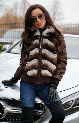 New 2019 Chinchilla Rex Fur Jacket Class Of Sable Fox Vest Coat Vest Mink Bomber
