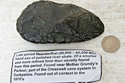 Historically Important Neanderthal Hand Axe Found Cresswell Cave Derbyshire Rare