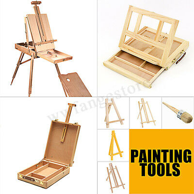 AU Wooden Artist Display Easel Art Drawing Painting Table Sketching Box Board