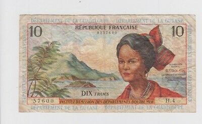 French Antilles one old note fine