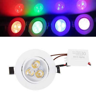 Dimmable LED Recessed Ceiling Downlight 3W White Lamp 110V 220V + Driver RD378
