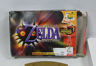 The Legend of Zelda: Majora's Mask - Nintendo 64 (N64) Game with Box - Tested