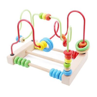Wooden Bead Maze Toddlers Learning Toy Activity Center Educational Game Toy
