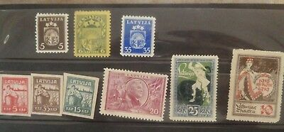 Stamps Latvia Russia  Pre 1970's mint and used