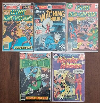 Bronze Age DC Comic Book Lot - Superboy 218, 255, Wonder Woman 213