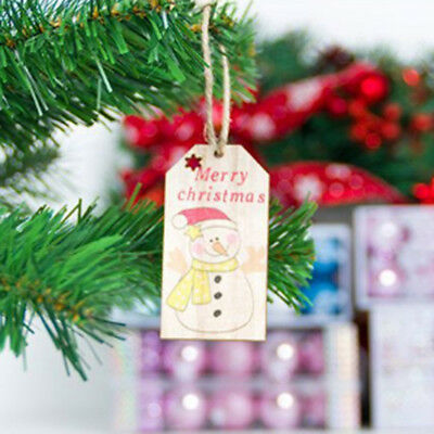Christmas Wooden Ornaments Pendant DIY Wood Crafts For Xmas Tree Decor