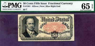 HGR FRIDAY 5th Issue 50c FRACTIONAL ((Wanted GEM)) PMG GEM UNC 65EPQ