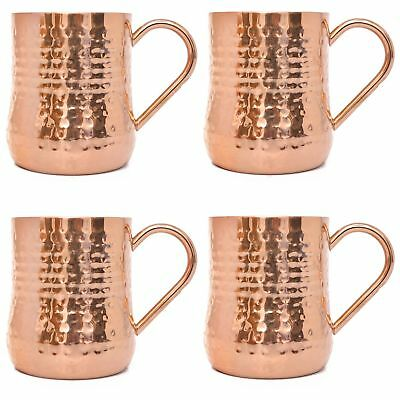 NEW Member's Mark New In Box Hammered Double Wall Copper Mugs 20 oz (4 Pack)