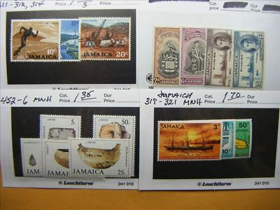 3980 Jamaica Lot of 4 Mint Stamp Packs